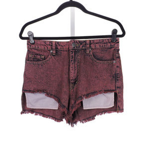BDG Women's High Rise Lou Hi-Low Short Size 28